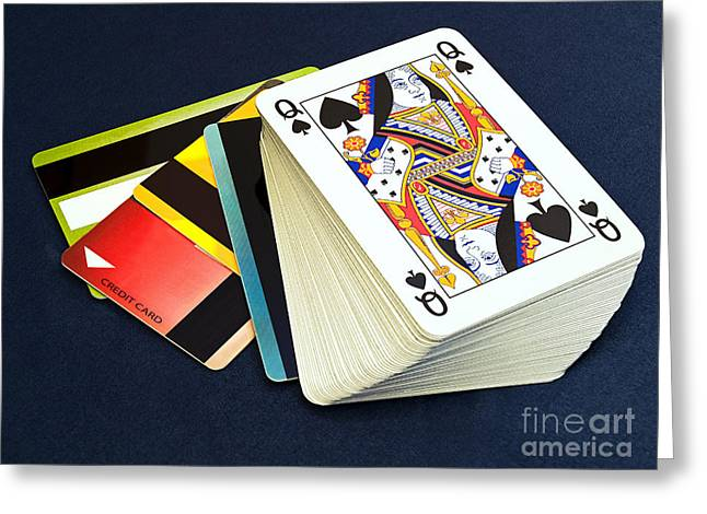 Financing Greeting Cards - Gamble on the credit Greeting Card by Sinisa Botas