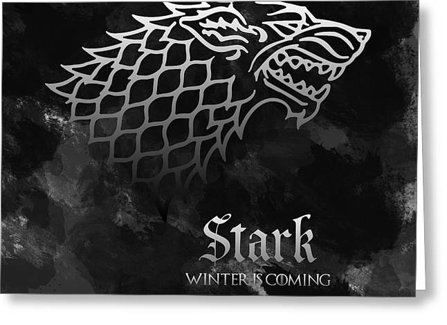 Recently Sold -  - Royal Family Arts Greeting Cards - Game of thrones house stark Greeting Card by Sophie McAulay