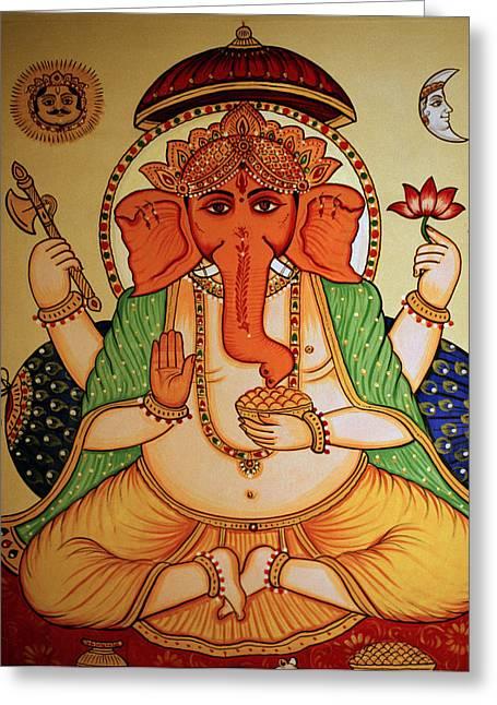 Recently Sold -  - Royal Art Greeting Cards - Spiritual India Greeting Card by Shaun Higson