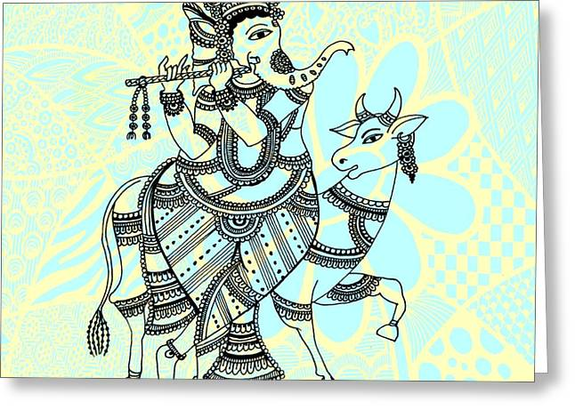 Ganesha Greeting Card by Sketchii Studio
