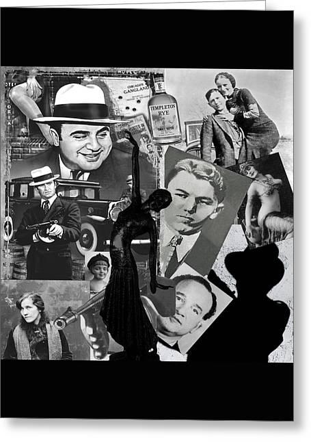 Mobster Greeting Cards - Gangland Greeting Card by Ellen Henneke