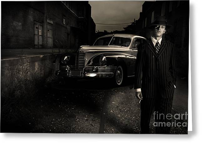 Goodfellas Greeting Cards - Gangster Greeting Card by Diane Diederich