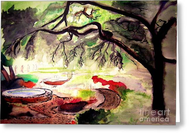 Prescott Paintings Greeting Cards - Garden Greeting Card by Eric Gagnon