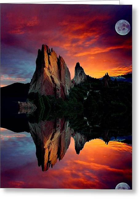Colorado Mountain Posters Greeting Cards - Garden Reflections Greeting Card by John Hoffman