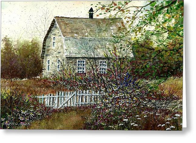 Garden Shed Greeting Cards - Garden Shed Greeting Card by Steven Schultz