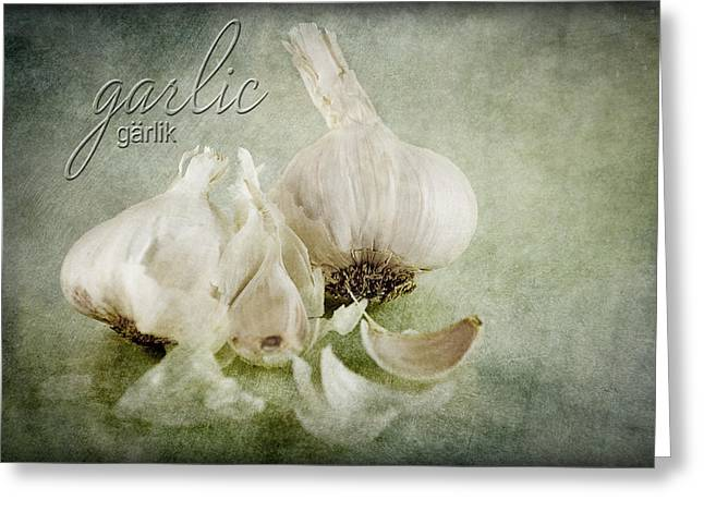 Pillow With Roses Greeting Cards - Garlic Greeting Card by Jay Hooker
