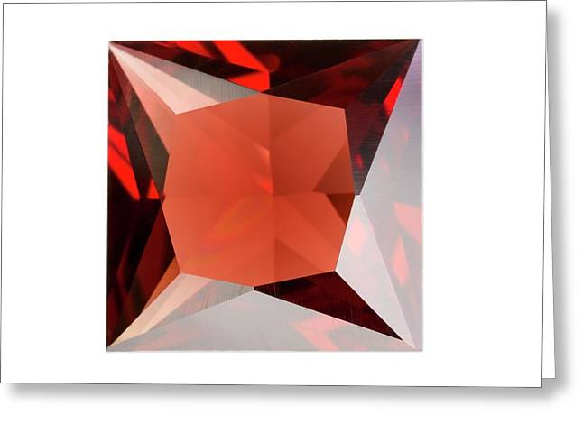 Garnet Greeting Card by Science Photo Library