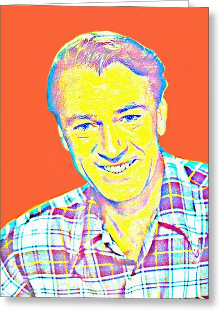 Plaid Shirt Greeting Cards - Gary Cooper Greeting Card by Art Cinema Gallery