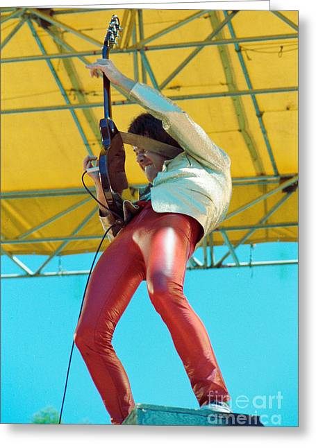 80s Greeting Cards - Gary Moore of Thin Lizzy Black Rose tour at Day on the Green 4th of July 1979 - Unreleased Greeting Card by Daniel Larsen