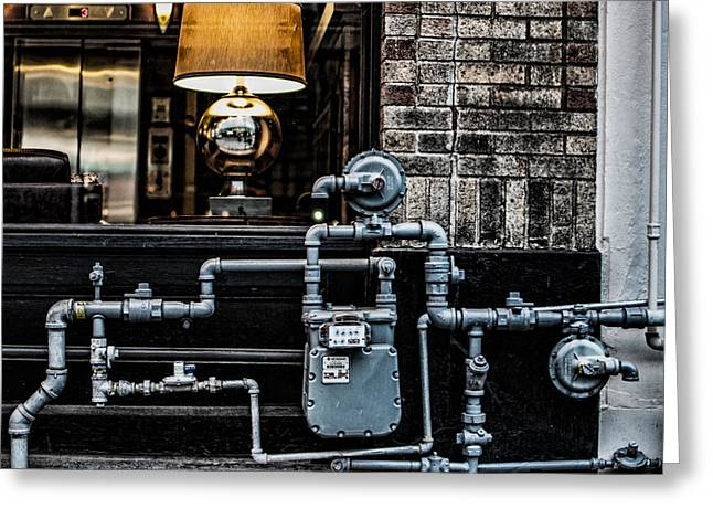Gas Meter Greeting Cards - Gas Meter Greeting Card by Paul Haist