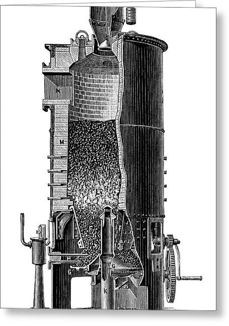 Gasification Unit Greeting Card by Science Photo Library