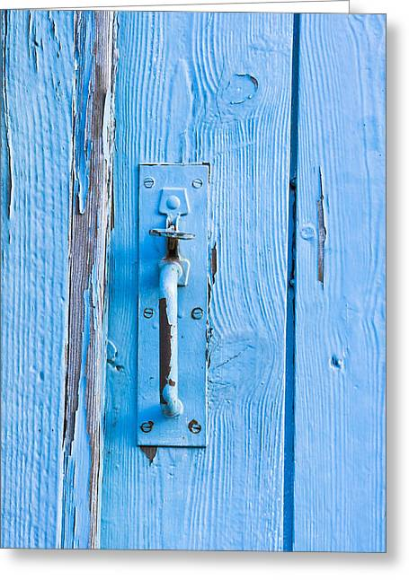 Shed Photographs Greeting Cards - Gate handle Greeting Card by Tom Gowanlock