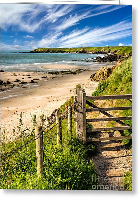 Gate Landscape Greeting Cards - Gate To Paradise Greeting Card by Adrian Evans