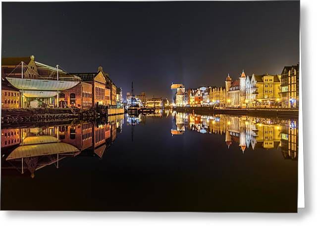 Night Lamp Greeting Cards - Gdansk  Greeting Card by Jan Sieminski