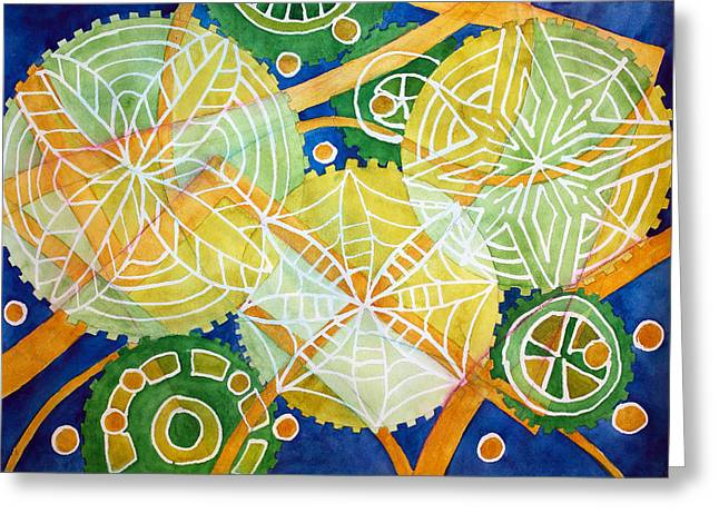 Gearage Greeting Card by Lynn Henry