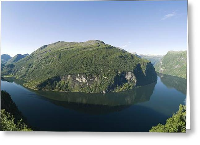 Most Visited Greeting Cards - Geiranger Fjord, Norway Greeting Card by Dr Juerg Alean
