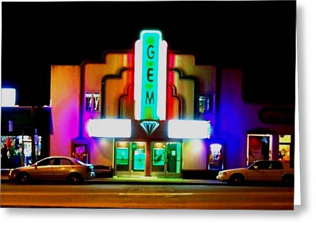 Heber Springs Greeting Cards - Gem Theater  Greeting Card by Brian Hubmann