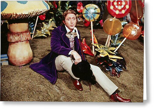 Musical Film Greeting Cards - Gene Wilder in Willy Wonka & the Chocolate Factory  Greeting Card by Silver Screen