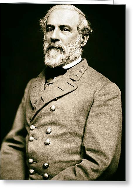 Recently Sold -  - Civil Greeting Cards - General Robert E Lee 1862 Greeting Card by Mountain Dreams
