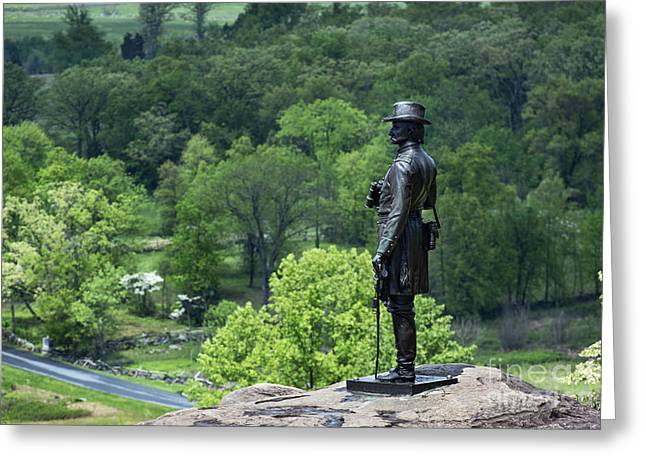 General Warren at Little Round Top Greeting Card by John Greim