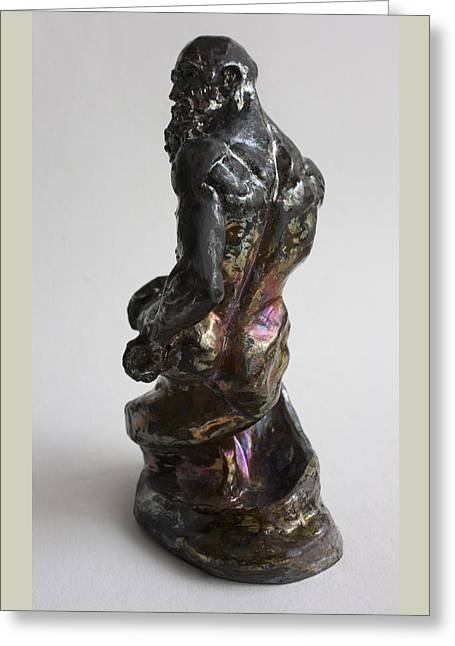 Nude Sculpture Sculptures Greeting Cards - Genie Greeting Card by Derrick Higgins