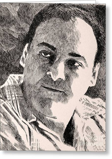 James Gandolfini Greeting Cards - Gentle Giant Greeting Card by Robbi  Musser
