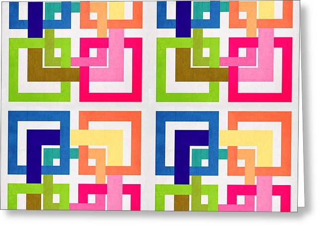 Geometric Shape Greeting Cards - Geometric Colors  Greeting Card by Mark Ashkenazi