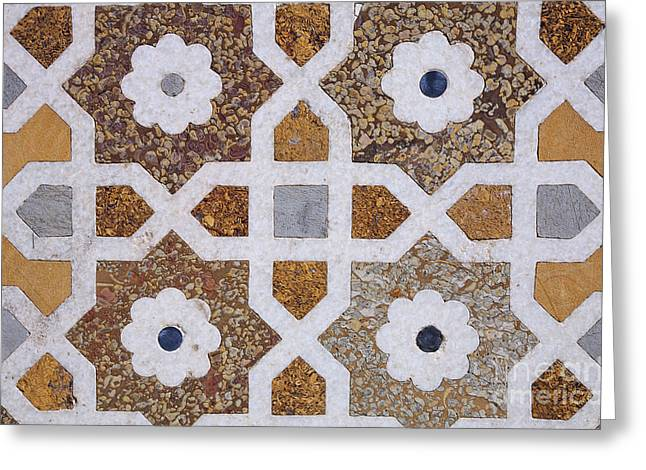 Geometric Design Greeting Cards - Geometric Designs on the Baby Taj Agra Greeting Card by Robert Preston