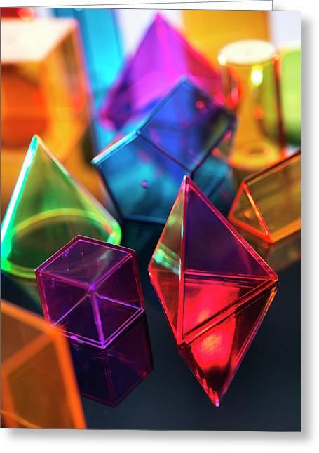 Geometric Shapes Greeting Card by Tek Image