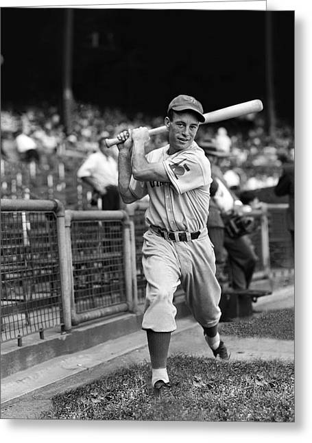 Baseball Bat Greeting Cards - George E. Myatt Greeting Card by Retro Images Archive