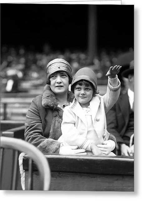 All Star Game Photographs Greeting Cards - George H. Babe Ruth Greeting Card by Retro Images Archive