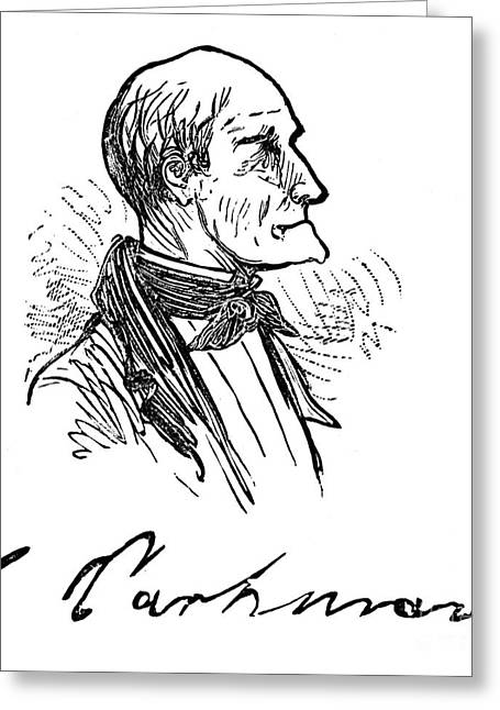 Autograph Greeting Cards - George Parkman (1790-1849) Greeting Card by Granger