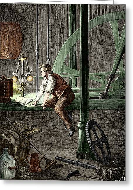 George Stephenson � The Early Years Greeting Card by Sheila Terry