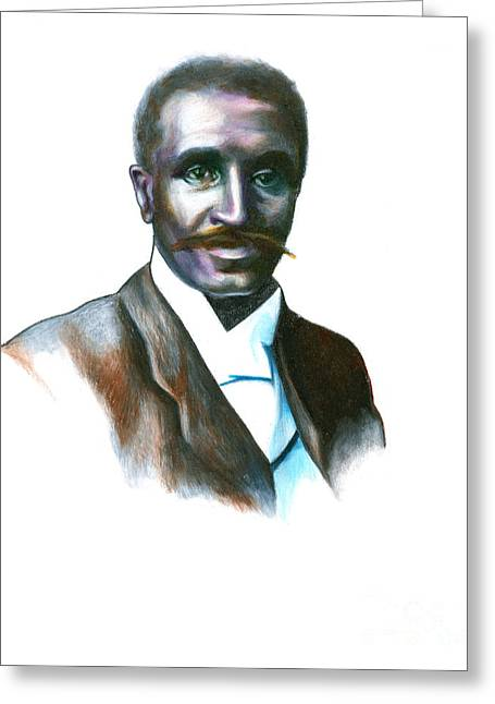 Black History Greeting Cards - George Washington Carver Greeting Card by Gwen Shockey
