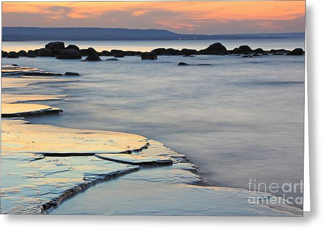 Collingwood Greeting Cards - Georgian Bay Sunset Greeting Card by Charline Xia