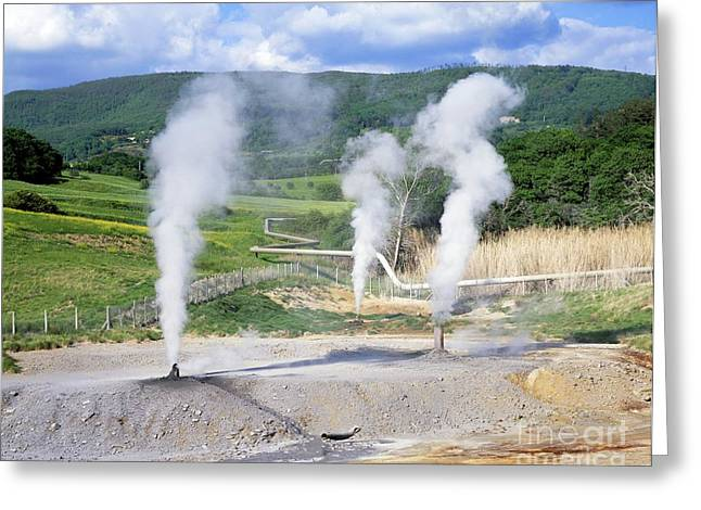 Italian Landscapes Greeting Cards - Geothermal Vents, Italy Greeting Card by Martin Bond