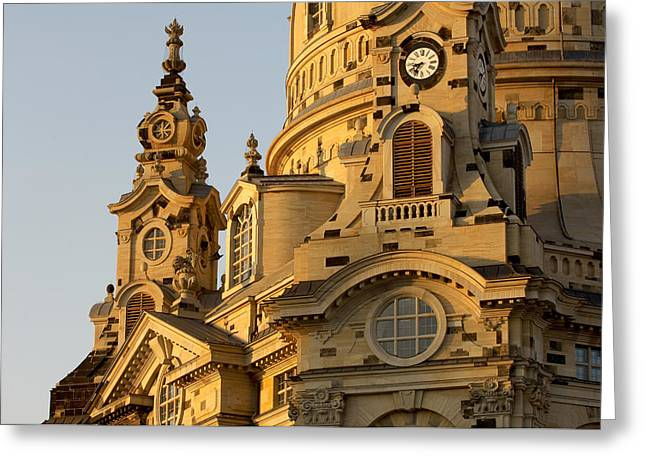 Frauenkirche Greeting Cards - Germany, Saxony, Dresden, Frauenkirche Greeting Card by Tips Images
