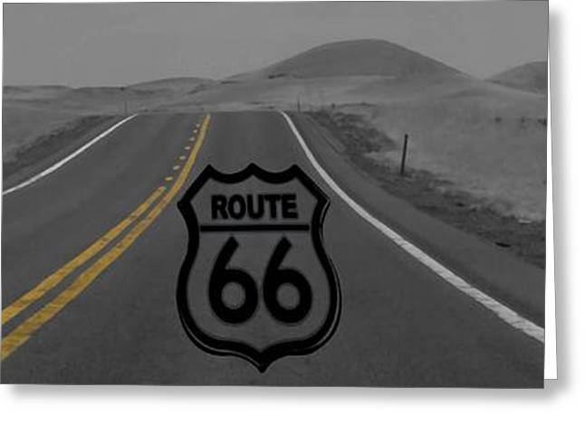 Road Travel Greeting Cards - Get Your Kicks Greeting Card by Dan Sproul
