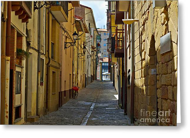 Getaria In Basque Country Spain Greeting Card by Louise Heusinkveld