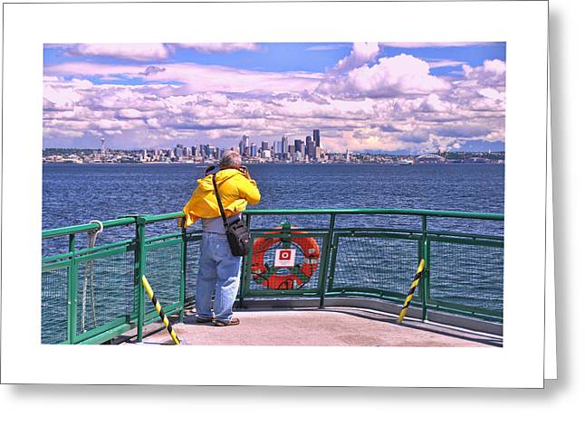 Shoulder Bag Greeting Cards - Getting the Shot Greeting Card by Allen Beatty