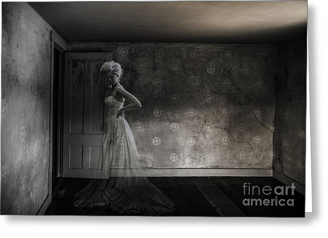 Ghost Greeting Cards - Ghost Bride Greeting Card by Diane Diederich