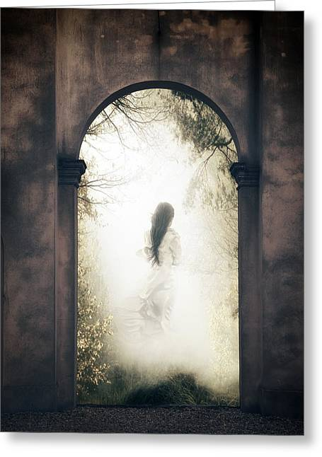 Ghost Castle Greeting Cards - Ghost Greeting Card by Joana Kruse