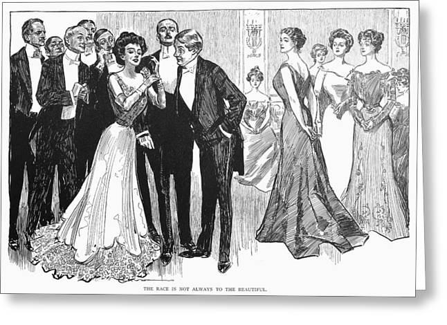 Tuxedo Greeting Cards - Gibson Girls, 1900 Greeting Card by Granger