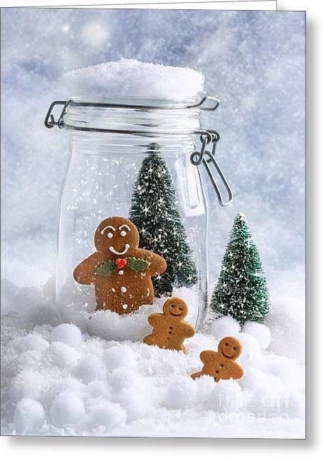 Snowball Greeting Cards - Gingerbread Greeting Card by Amanda And Christopher Elwell