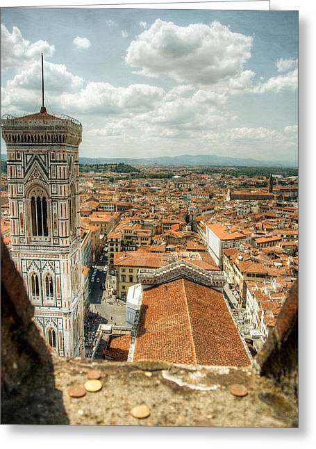 Giotto Greeting Cards - Giottos Campanile Greeting Card by Natasha Bishop