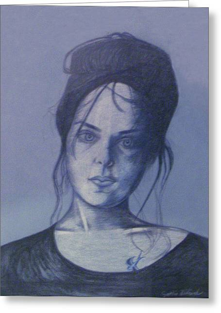 Cynthia Hilliard Greeting Cards - Girl With Tattoo Greeting Card by Cynthia Hilliard
