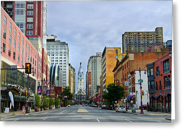 Bully Digital Greeting Cards - Give My Regards to Broad Street Greeting Card by Bill Cannon