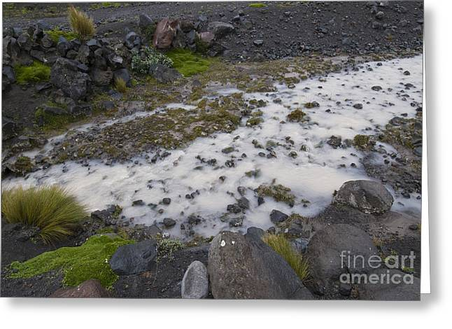 Flour Greeting Cards - Glacial Flour And Till Greeting Card by William H. Mullins