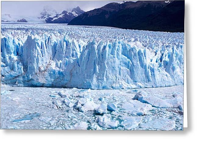 Santa Cruz Greeting Cards - Glacier, Moreno Glacier, Argentine Greeting Card by Panoramic Images