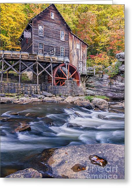 Grist Mill Greeting Cards - Glade Creek Grist Mill Greeting Card by Anthony Heflin